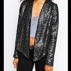 Abercrombie & Fitch Sequined Draped Jacket